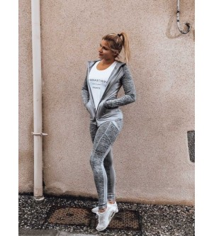 Legging gris chiné KD189